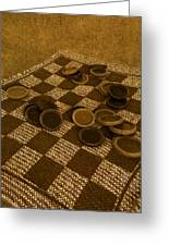 Playing Checkers On A Rug Greeting Card