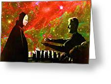 Playing Chess With Death Greeting Card