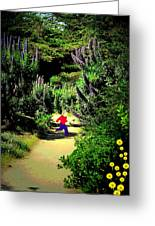 Playing In The Garden Five Greeting Card