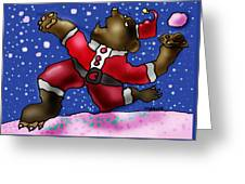 Playing In The Snow Greeting Card