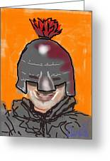 Playing Knight Greeting Card
