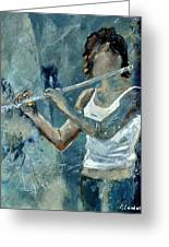 Playing The Flute Greeting Card