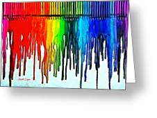 Playing With Colors Greeting Card