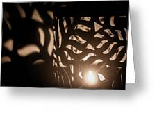 Playing With Shadows Greeting Card