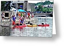 Playtime On The River Greeting Card