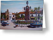 Plaza Alta Greeting Card