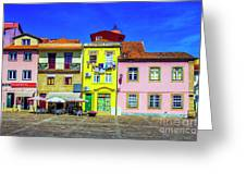 Plaza De Camoes Greeting Card
