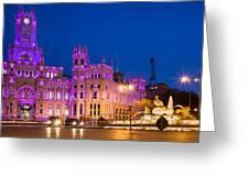 Plaza De Cibeles In Madrid Greeting Card