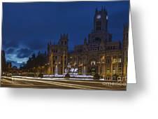 Plaza De Cibeles Madrid Spain Greeting Card