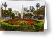Plaza De Mayo In Buenos Aires-argentina  Greeting Card