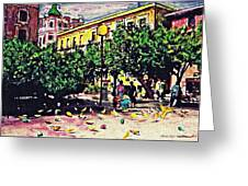 Plaza In Murcia Greeting Card