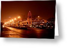 Plaza Lights 47th Street 3 Greeting Card