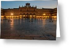 Plaza Mayor In Salamanca Greeting Card