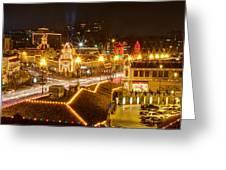 Plaza Overlook At Christmas Greeting Card