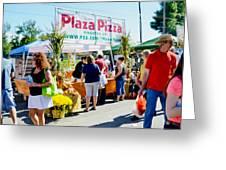 Plaza Pizza Greeting Card