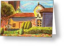 Plaza View From Canal Greeting Card