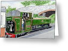 Please May I Drive? - Llangollen Steam Railway, North Wales Greeting Card