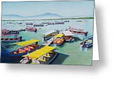 Pleasure Boats On Lake Chapala Greeting Card