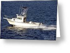 Pleasure Fishing Boat Greeting Card