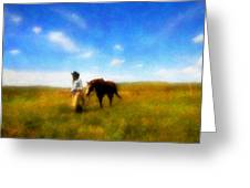 Pleasure Pasture Greeting Card