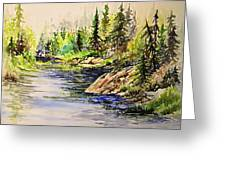 Plein Air At Nutimik Lake In Manitoba Greeting Card