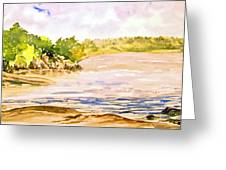Plein Air At Pine Falls Manitoba Greeting Card
