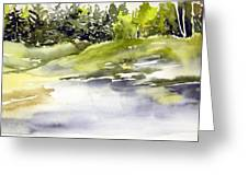 Plein Air At The Pond At Nutimik  Greeting Card