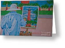 Plein-air Painter Greeting Card