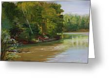 Plein Air Willow Creek Greeting Card