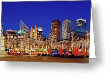 Plein At Blue Hour - The Hague Greeting Card