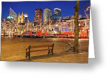 Plein Square At Night - The Hague Greeting Card
