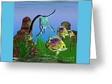 Plesiosaurus Attack Greeting Card