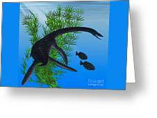 Plesiosaurus Greeting Card
