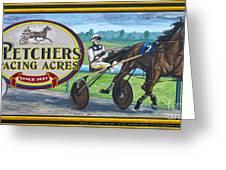 Pletchers Racing Mural Shipshewana Greeting Card
