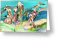 Plethora Of Pelicans Greeting Card