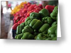 Plethora Of Peppers Greeting Card