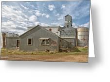 Plevna Grain Elevator Greeting Card