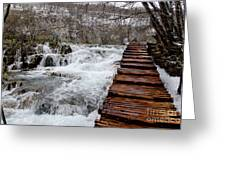 Plitvice Lakes Boardwalk Greeting Card