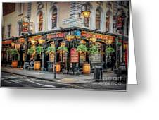 Plough Pub London Greeting Card by Adrian Evans