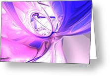 Plum Juices Abstract Greeting Card