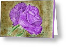 Plum Passion Rose Greeting Card
