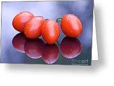 Plum Tomatoes Greeting Card