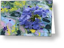Plumbago Flowers Greeting Card