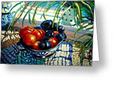 Plumbs And Nectarines Greeting Card