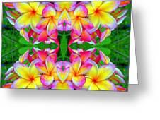 Plumeria Art Greeting Card