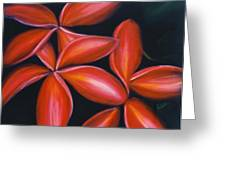 Plumeria Rouge Greeting Card