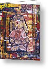 Plush Shaggy Toy Doggie Greeting Card
