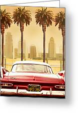 Plymouth Savoy With Palm Trees Greeting Card