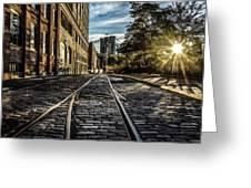 Plymouth Street Sundown Greeting Card