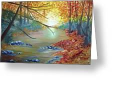Pocono Creek In Autumn Greeting Card